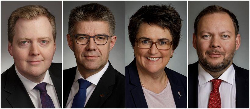 Sigmundur Davíð Gunnlaugsson, Gunnar Bragi Sveinsson, Anna Kolbrún Árnadóttir og ...