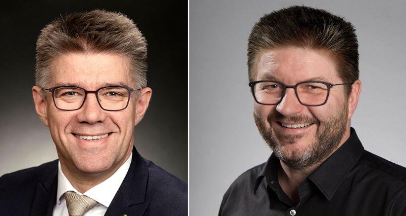 Tvífarar? Hans Steinar Bjarnason og Gunnar Braga Sveinsson alþingismaður þykja ...