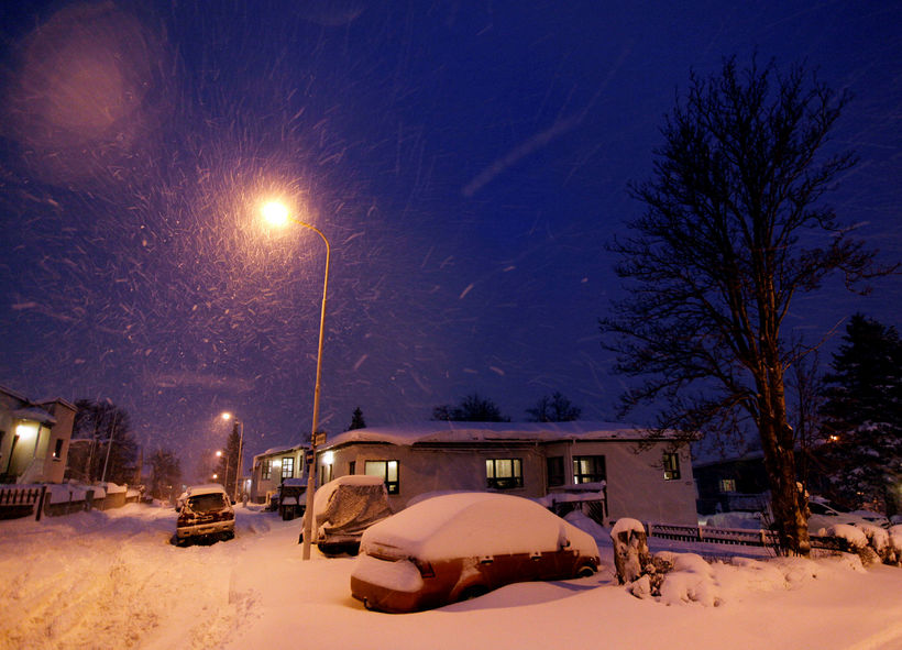 Yfir 100 cm snjór var á Akureyri í byrjun desember.
