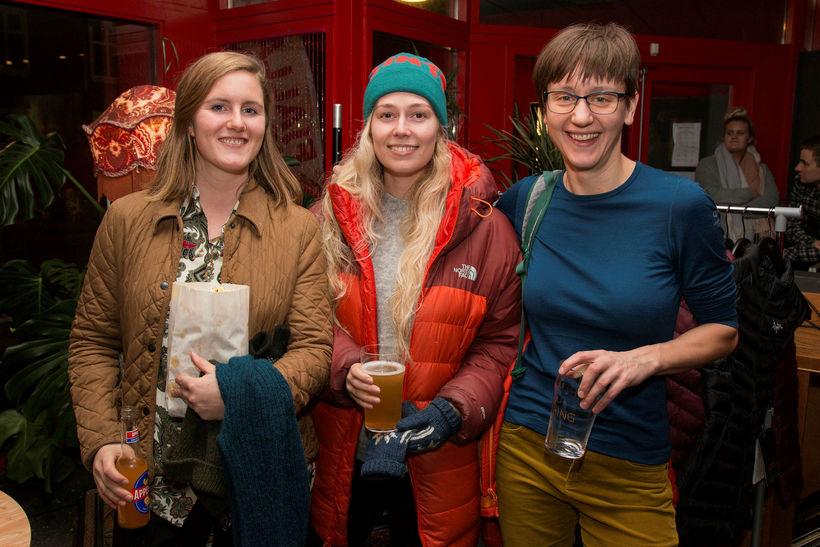 Erla Guðný Helgadóttir, Andrea Geirsdóttir og Marta Kusinska.