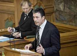 Anders Fogh Rasmussen á danska þinginu þann 3. október s.l.