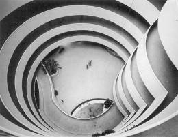 Frá Guggenheim safninu í New York.