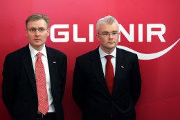 Bjarni Ármannsson, fráfarandi forstjóri Glitnis, og Lárus Welding, nýr forstjóri.