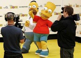 Hómer og Bart Simpson í góðum gír