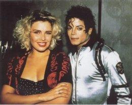 Kim Wilde ásamt Michael Jackson árið 1988.