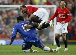 Frá viðureign Manchester United og Chelsea á Old Trafford.