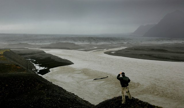 Ekki er útilokað að hlaupvatn berist í Skeiðará en hún ...