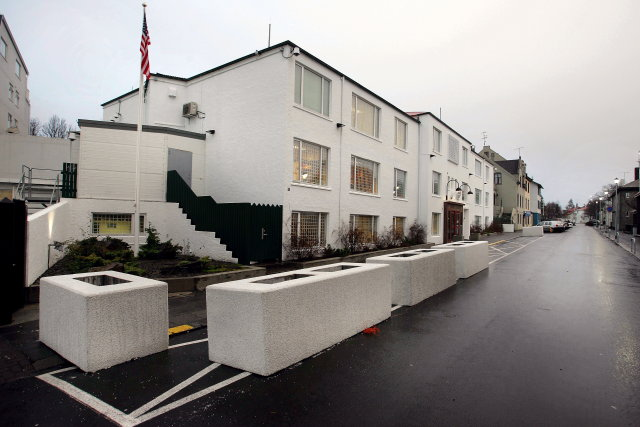 Bandaríska sendiráðið í Reykjavík.
