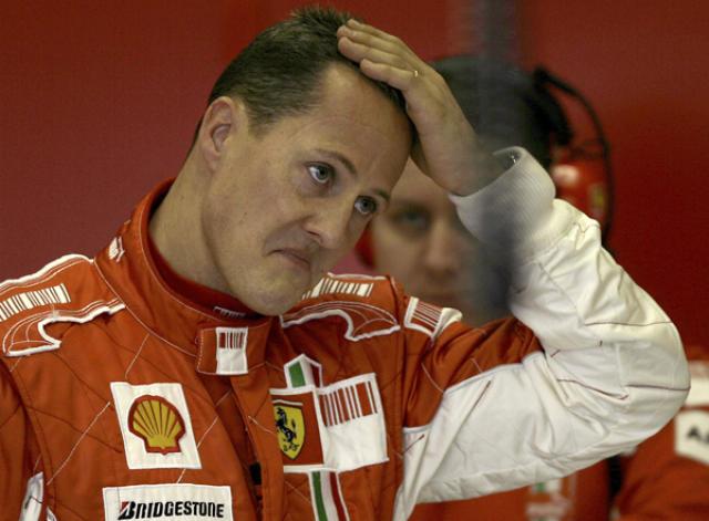 Schumacher lét undan miklum þrýstingi.