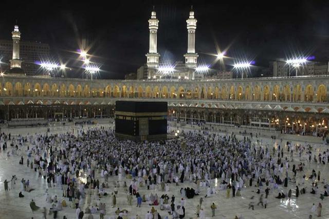 Frá hinni helgu borg Mekka í Sádi-Arabíu.