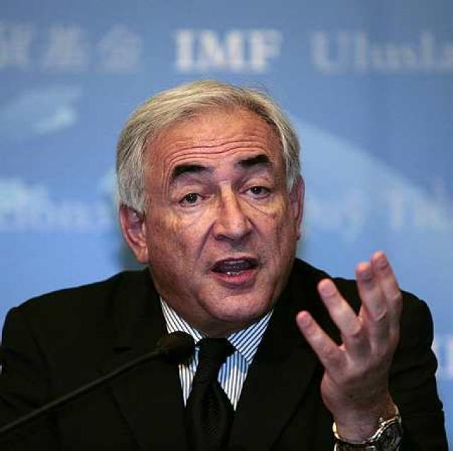 Dominique Strauss-Kahn, yfirmaður Alþjóðagjaldeyrissjóðsins, IMF.