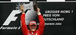 Schumacher sigri hrósandi í Hockenheim.