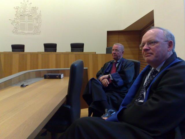 Jakob R. Möller og Gestur Jónsson, lögmenn Tryggva Jónssonar og …