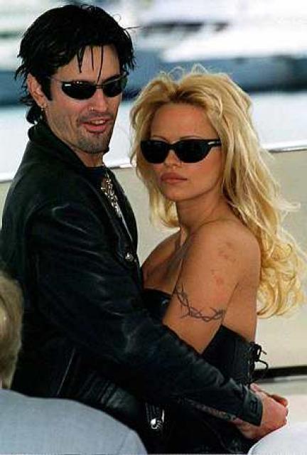 Tommy Lee og Pamela Anderson í þá gömlu góðu.....