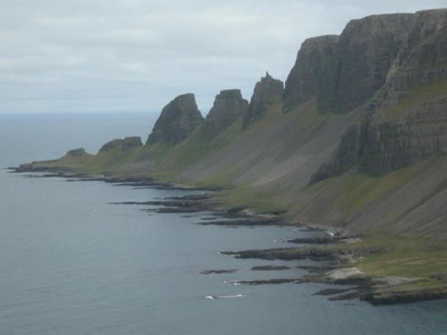 The rugged terrain of Hornstrandir.