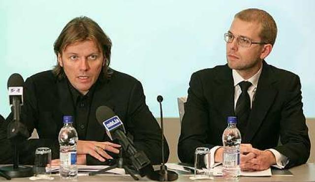 Jón Ásgeir Jóhannesson og Jón Sigurðsson