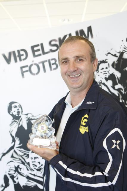 Milan Stefán Jankovic var valinn besti þjálfarinn.