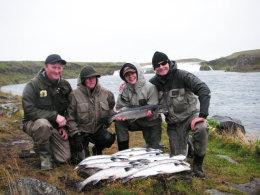 Svona var stemmingin í Ytri Rangá þann 27. ágúst 2008 þegar metveiðin var að bresta á.