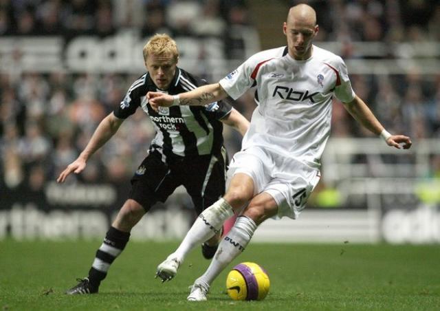 Grétar Rafn Steinsson í leik með Bolton gegn Newcastle.