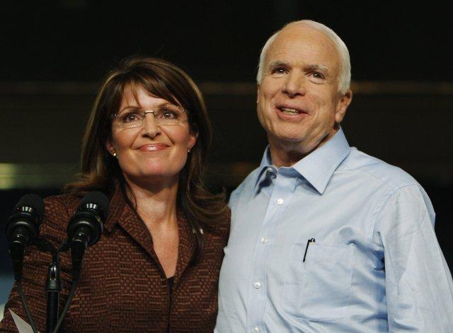 John McCain og Sarah Palin,