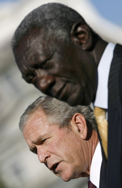 George W. Bush og John A. Kufuor í Washington í ...