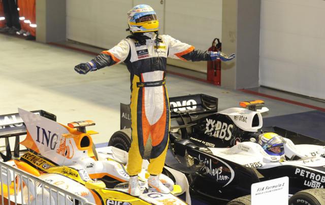 Alonso létt í Singapúr.