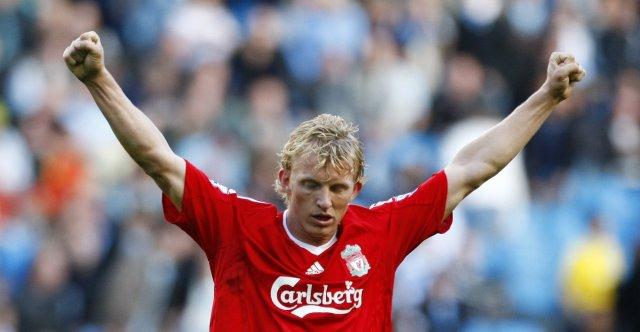 Dirk Kuyt var einn í fremstu víglínu hjá Liverpool í ...
