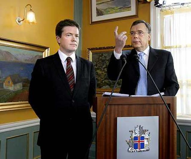Geir H. Haarde og Björgvin Sigurðsson