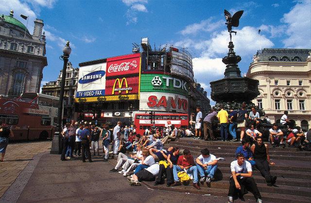 Piccadilly Circus í London