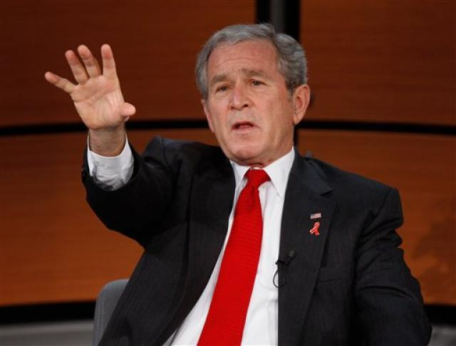 George W. Bush Bandaríkjaforseti.