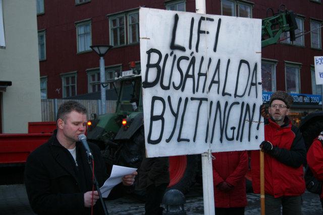 Mótmælt á Akureyri í fyrra