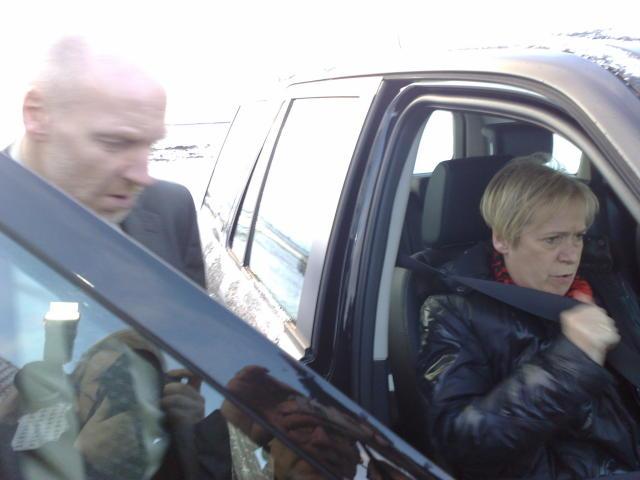 Steingrímur J. Sigfússon og Ingibjörg Sólrún Gísladóttir yfirgefa Bessastaði