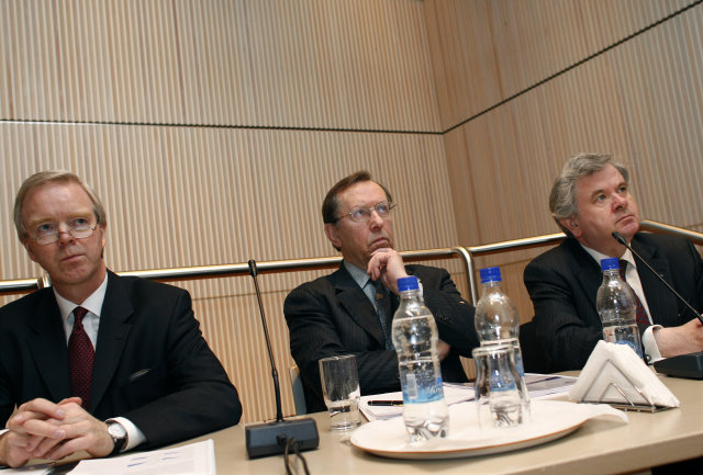Núverandi bankastjórn Seðlabankans, f.v. Ingimundur Friðriksson, Eiríkur Guðnason og Davíð ...