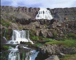 Fossinn Dynjandi er í Arnarfirði.