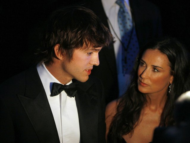 Ashton Kutcher og Demi Moore
