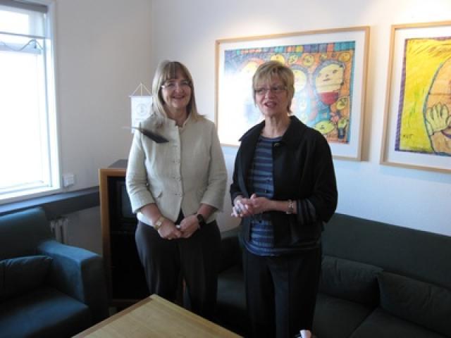 Ásta R. Jóhannesdóttir og Nancy Allen.