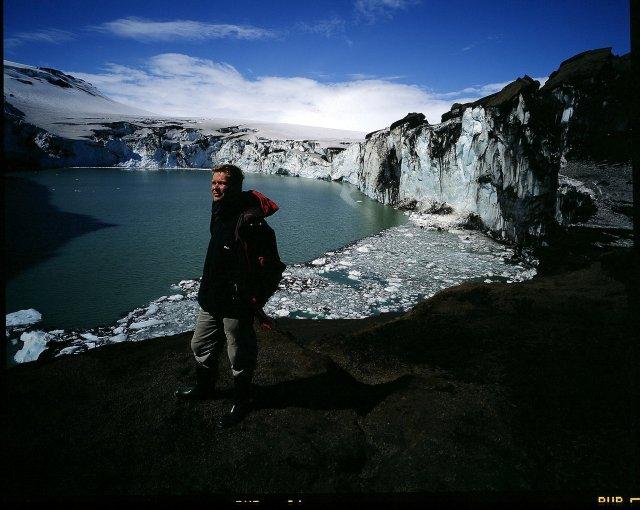 Magnús Tumi jarðeðlisfræðingur við Grímsvötn