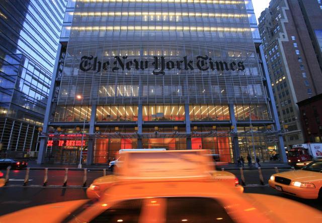 Höfuðstöðvar New York Times á Manhattan