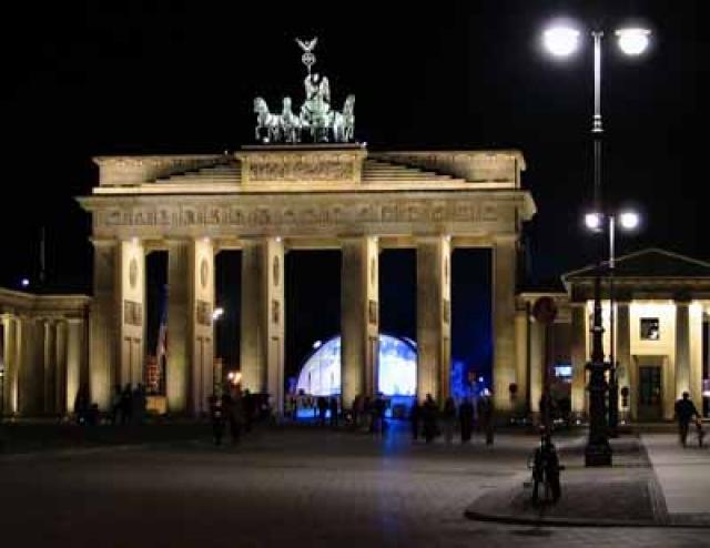 Brandenborgarhliðið í Berlín.