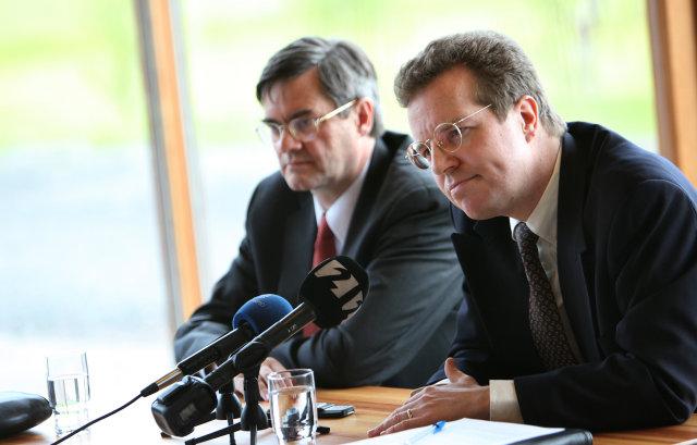 Franek Roswadowsky og Mark Flanagan, starfsmenn Alþjóðagjaldeyrissjóðsins.