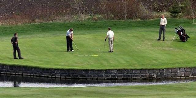 Frá golfvelli GR í Grafarholti.