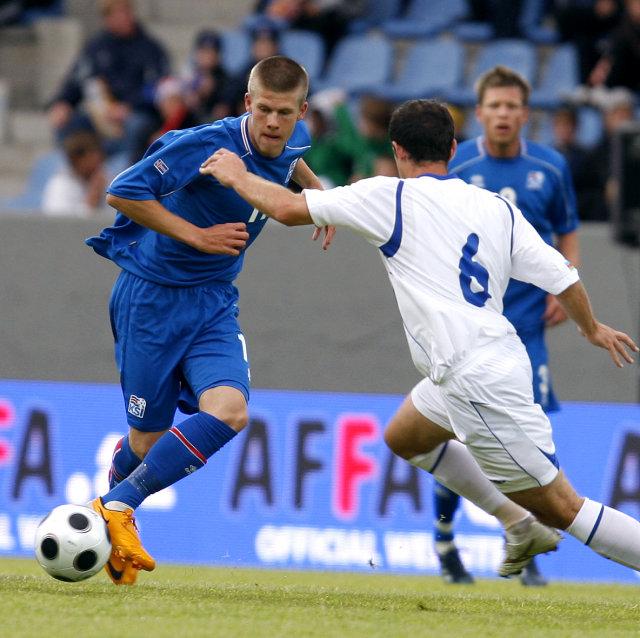 Jóhann Berg Guðmundsson er í U21-landsliðinu en hann á að ...