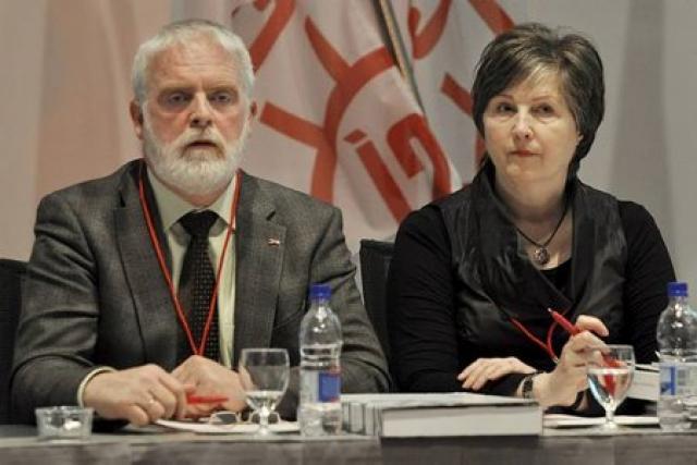 Gylfi Arnbjörnsson, forseti ASÍ og Ingibjörg R. Guðmundsdóttir, varaforseti ASÍ.