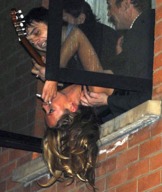 Pete Doherty og Kate Moss áttu vingott saman á tímabili. …