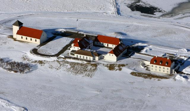 Bessastaðir á Áltanesi, bústaður forseta Íslands.