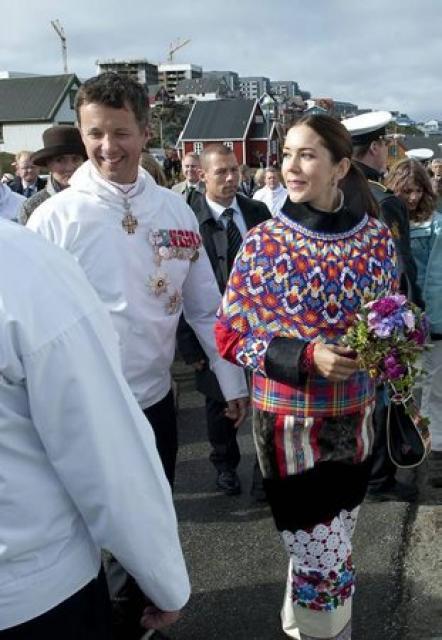 Friðrik krónprins Dana og Mary krónprinsessa voru viðstödd hátíðarhöldin í …