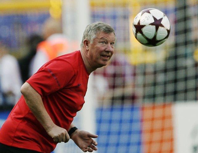 Sir Alex Ferguson knattspyrnustjóri Manchester United.