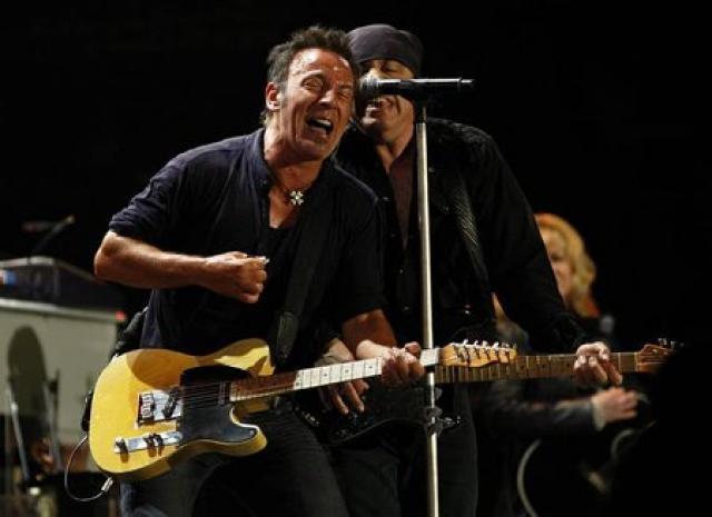 U.S. singer Bruce Springsteen performs with Steven Van Zandt at ...