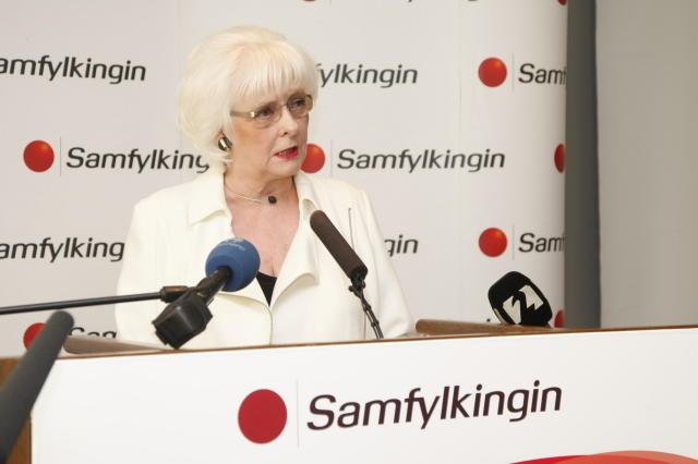 Jóhanna Sigurðardóttir, formaður Samfylkingarinnar og forsætisráðherra ávarpaði fund flokksstjórnar Samfylkingarinnar ...