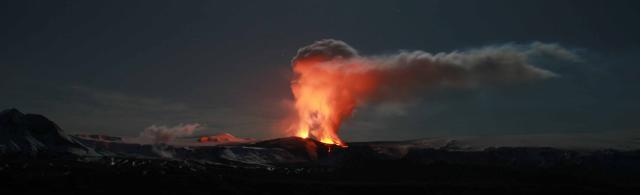 Fjallahringurinn séður frá Fljótshlíð.